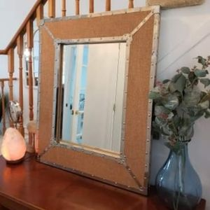 Farmhouse studded mirror